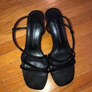 Zara Faux Suede Strappy Heels
